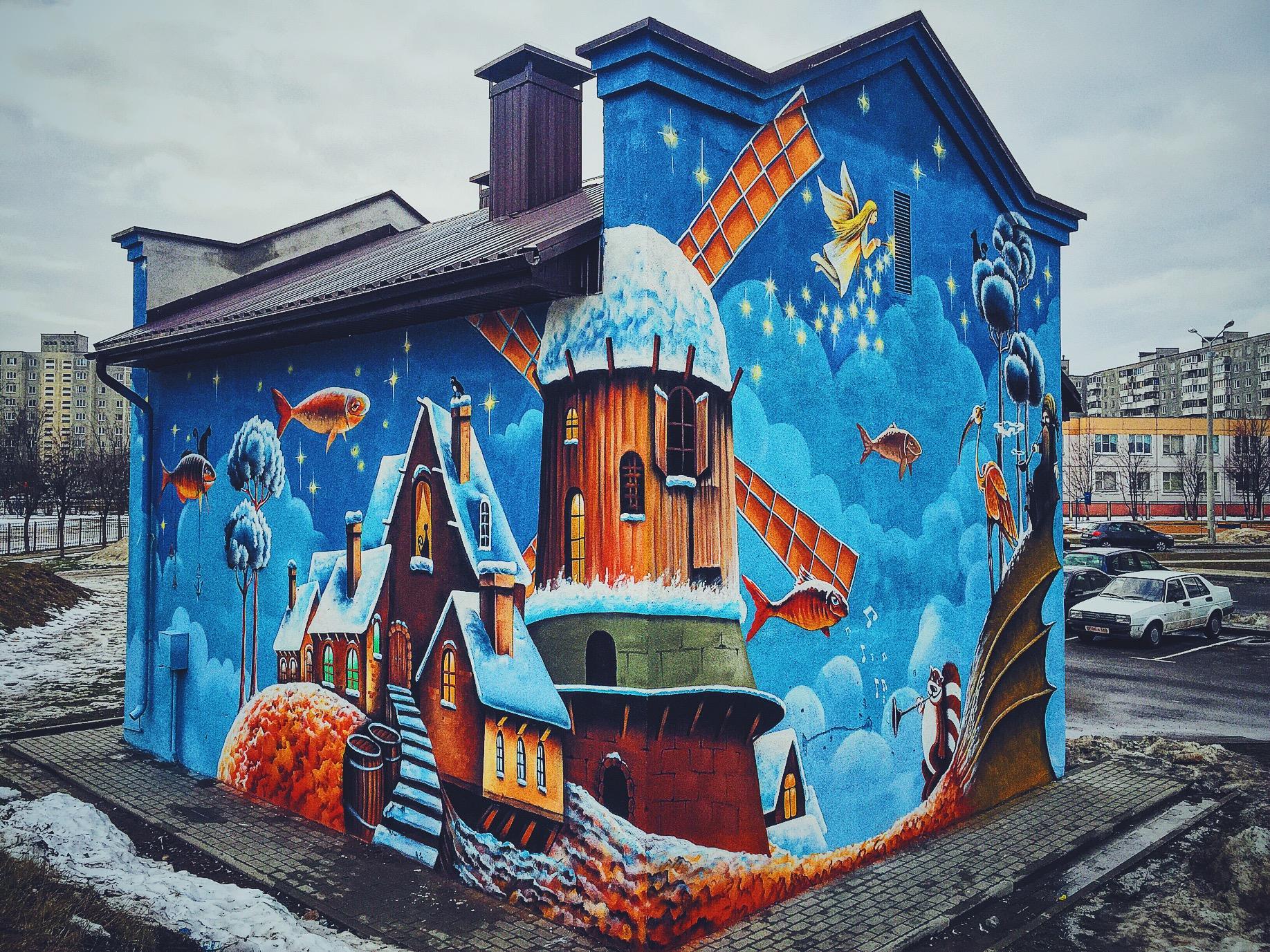 Роспись на домах своими руками 10